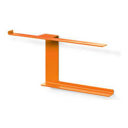 Modern Toilet Roll and Magazine Holder - This Toilet Roll & Magazine Holder is a work of powder-coated aluminum, awash in a succulent orange finish. Because your bathroom deserves some design love, too.