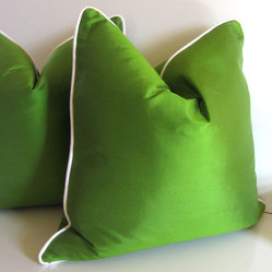 Green Silk Pillow by Studio Tullia