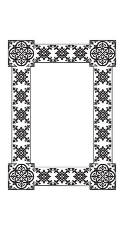 """WallPops - Tangier Dry-Erase Board Wall Decal - This dry-erase message board has a global beauty with a Moroccan vibe. Bring this stylish black and white wall decal to your space for a beautiful space to keep track of messages and lists. Tangier Dry-Erase Boards are 13"""" x 17.75"""" and include a WallPops dry-erase marker. Tangier Dry-Erase Boards are repositionable and totally removable."""