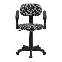 Flash Furniture - Flash Furniture Accent Chair X-GG-A-ECAEP-TB - This attractive design printed office chair will liven up your classroom, dorm room, home office or child's bedroom. If you're ready to step out of the ordinary then this computer chair is for you! [BT-PEACE-A-GG]