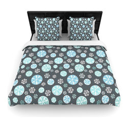 "Kess InHouse - Julie Hamilton ""Midnight Snow"" Winter Cotton Duvet Cover (Queen, 88"" x 88"") - Rest in comfort among this artistically inclined cotton blend duvet cover. This duvet cover is as light as a feather! You will be sure to be the envy of all of your guests with this aesthetically pleasing duvet. We highly recommend washing this as many times as you like as this material will not fade or lose comfort. Cotton blended, this duvet cover is not only beautiful and artistic but can be used year round with a duvet insert! Add our cotton shams to make your bed complete and looking stylish and artistic!"