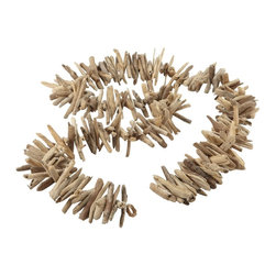 Lazy Susan - Lazy Susan LZS-356014 Driftwood Garland - A charming manner of displaying found art, this unique garland is crafted of pieces of driftwood, smooth with the salt of the sea and the throes of the tide. Handmade, no two garlands can be exactly alike. Drape this stunning assembly across your mantel or over your entryway as an evocative gesture of welcome to your guests.