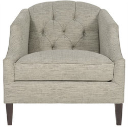 Montvale2 Sitting Chairs - Comfortable sitting chair with inside back fabric tufted buttons.