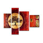 Fabuart - Hand Painted Asian Tree Canvas Painting - This beautiful art is 100% hand-painted on canvas by one of our professional artists. Our experienced artists start with a blank canvas and paint each and every brushstroke by hand.