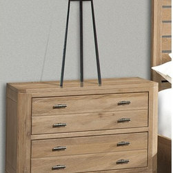 Cresent Fine Furniture - Hampton 2 Drawer Nightstand - Light Cerused Sand Multicolor - 5112 - Shop for Nightstands from Hayneedle.com! The Hampton 2 Drawer Nightstand - Light Cerused Sand has a contemporary casual vibe and modern features you'll love. The perfect bedside companion this nightstand includes two full-extension solid wood drawers and a recessed power strip in the back. Nice! It's beautifully crafted of responsibly-harvested solid wire brushed oak and comes in a friendly Light Cerused Sand finish. Scored drawer fronts and custom T-bar pulls in a white bronze finish add to the look. About Cresent Fine FurnitureBased in Gallatin Tennessee Cresent Fine Furniture was founded in 1947 with a mission of creating solid wood furniture that meets a higher level of craftsmanship. The same families that founded and managed Cresent from the beginning are now in their third generation of business. Cresent is fully committed to providing heirloom-quality furniture using traditional woodworking techniques and the finest solid wood species including sustainably harvested American hardwoods. Inspired by traditional country neo-classical and contemporary design Cresent s furniture collections provide exceptional beauty strength and longevity for today s quality-conscious shoppers.