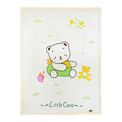 Blancho Bedding - [Little Bear Coro] Polar Fleece Throw Blanket (33.5 by 45.3 inches) - The thick Polar Fleece Baby Kids Throw Blanket measures 33.5 by 45.3 inches. Whether you are adding the final touch to your bedroom or rec-room, these patterns will add a little whimsy to your decor. Machine wash and tumble dry for easy care. Will look and feel as good as new after multiple washings! This blanket adds a decorative touch to your decor at an exceptional value. Comfort, warmth and stylish designs. This throw blanket will make a fun additional to any room and are beautiful draped over a sofa, chair, bottom of your bed and handy to grab and snuggle up in when there is a chill in the air. They are the perfect gift for any occasion! Available in a choice of whimsical kid-friendly prints to spark the imagination, the blanket is durable enough to look great on the go.