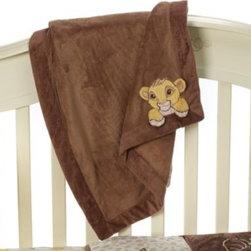 "Disney Baby - Disney Baby Lion King Go Wild Blanket - This ribbed coral fleece blanket coordinates perfectly with the Disney Baby Lion King Go Wild Crib Bedding Collection. Measures 30"" x 40""."