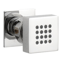 Hudson Reed - Modern Single Square Chrome Plated Shower Body Jet Adjustable Massage Spray - Add a splash of modern elegance to your shower wall with this stunning square body jet. Durable, easy to clean and adjustable, it guarantees years of rejuvenating showers and plenty of chic style.
