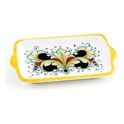 Artistica - Hand Made in Italy - Deruta Vario: Butter Dish - Small Tray - Deruta Vario Collection: