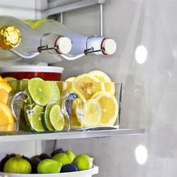 """GE Monogram 30"""" refrigerator - Did you know our 30"""" fully integrated refrigerator includes a wine bottle holder which holds up to six bottles?"""