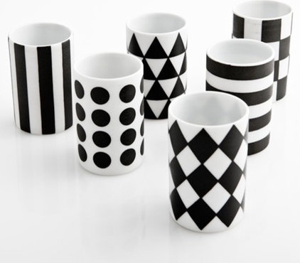 modern glassware by Poketo