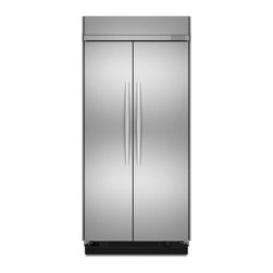 """KitchenAid - Architect Series II KSSC42FTS 42"""" 25.3 cu. ft. Side by Side Non-Dispensing Refri - Keep your favorite ingredients tasting as fresh as the day you bought them The ExtendFresh Plus Temperature Management System independently monitors temperatures to help ensure maximum taste and texture"""