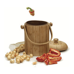 Bamboo Compost Pail - Here's what I love about this countertop composter as opposed to the millions that have popped up on the market: It has a removable inner container that you can wash and that is light enough to carry around. Many compost pails require bags you have to buy separately or are heavy when you have to move a couple of day's worth of scraps to the outside bins. This bamboo one is built with convenience in mind.