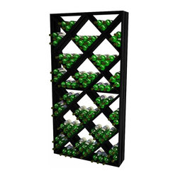 Wine Cellar Innovations - Traditional Series Solid Diamond Bin Wine Rack - The Traditional Series Solid Diamond Bin Wine Rack is constructed of sturdy 1 x 10 material and has 24 open bins for a total wine storage capacity of 208 wine bottles. Each diamond bin was designed to hold 9 magnum bottles, 12 champagne bottles, or 16 standard bordeaux wine bottles. This product needs to be wall mounted, assembly required.