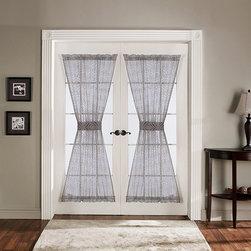 Lush Decor - Lush Decor Antique Gray 72-inch French Door Panels (Set of 2) - Lush Decor Gray 72-inch Antique Door Panels (Set of 2)