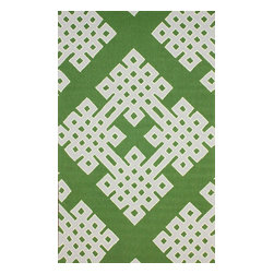 """nuLOOM - Contemporary 7' 6"""" x 9' 6"""" Green Hand Hooked Area Rug HK77 - Made from the finest materials in the world and with the uttermost care, our rugs are a great addition to your home."""