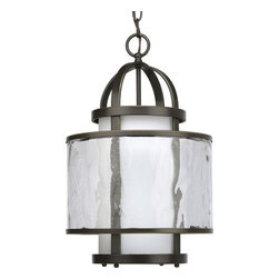 Thomasville Lighting - Thomasville Lighting P3701-20 Bay Court 1 Light Foyer Pendant - Thomasville Lighting P3701-20 Single Light Bay Court Foyer PendantA contemporary interpretation of antique nautical lanterns, this single light pendant will add a seaside feel to your home. This transitional design showcases bubbly Distressed Clear Glass layered over Etched Opal Glass for a slightly rustic appeal.Bay Court antique nautical lanterns include minimalist undertones and subtle detailing that can add a calming effect to any room. Can be used in traditional and non-traditional fashions � as single pieces or multiples of two or more.Thomasville Lighting P3701-20 Features: