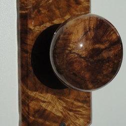 Burl Doorknobs - Joseph Mell