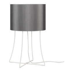 Virgil Table Lamp, Platinum Silk Glow