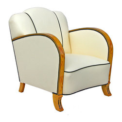 Art Deco Armchair - I love the rounded curves and artful design of this '30s, deco armchair from Sweden.