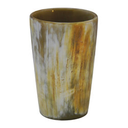 Be Home - Light Horn Tumbler - You tumble for quality craftsmanship — especially when there's a great story behind it. Southeast Asia depends on water buffalo for farm power; then, when an animal dies, the horn is made into beautiful, functional objects, each unique in coloring and shape.