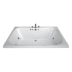 Spa World Corp - Atlantis Tubs 4860N Neptune 48x60x23 Rectangular Soaking Bathtub - The Neptune encompasses a cutting edge design, it's smooth contours embrace you tight while having an ample bathing area. The Neptune can effortlessly accommodate two, while still offering all the luxuries of a peaceful spa experience. Lay back, relax and enjoy the massaging jets while the contours of the bathing interior caress your body.