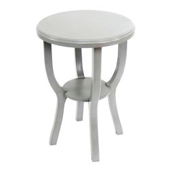 Teton Home - Teton Home Wooden Stool, Grey - This Wooden Stool with intricate and modern design will add style to any room or settings.
