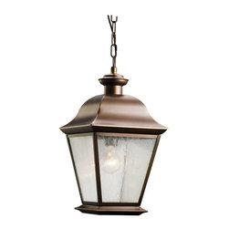 Kichler Lighting - Kichler Lighting 9809OZ Mount Vernon Traditional Outdoor Hanging Pendant Light - Kichler Lighting 9809OZ Mount Vernon Traditional Outdoor Hanging Pendant Light In Olde Bronze