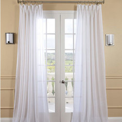 Half Price Drapes - White Orchid Faux Linen Sheer Single Panel Curtain Panel, 50 X 108 - - HPD has redefined the construction of sheer curtains and panels. Our sheers are classic and unmatched in their quality and create a beautiful light diffusion.  - Single Panel  - 3 Rod Pocket  -   - Pole Pocket  - Dry clean  - 81% Polyester 19% Linen  - Unlined  - 50x108  - Imported  - White Half Price Drapes - SHFLNCH-M011-108
