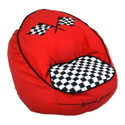 Harmony Kids Race Car Bean Chair - Red