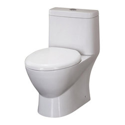 Ariel Bath - Ariel Platinum Adriana Toilet Dual Flush - Ariel cutting-edge designed one-piece toilets with powerful flushing system. Its a beautiful, modern toilet for your contemporary bathroom remodel.