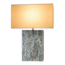 Natural Design House - Mother Of Pearl Table Lamp - Mother Of Pearl table lamp,