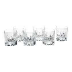 M. F Cristal De Paris - Set of 6 Prato Tumblers - By combining hand-engraved pieces with great classic styles, MF Cristal de Paris offers a complete range of table and decorative crystal ware. These modern and elegant designs are perfect for everyday sipping as well as special soirees.