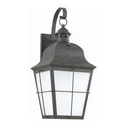 Sea Gull Lighting - 1-Light Wall Lantern Oxidized Bronze - 89273BLE-46 Sea Gull Lighting Chatham 1-Light Outdoor Wall Lantern with a Oxidized Bronze Finish