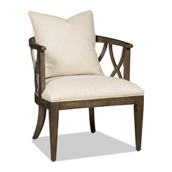 "Hooker Furniture - Hooker Furniture Accent Chair - With its stylish grace this accent chair features Eastbrook Barley fabric. Hardwoods Solids and Fabric. Dimensions: 26.5""W x 27.75""D x 29""H."