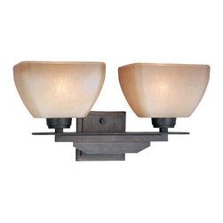 Vaxcel - DesCartes Architectural Bronze 2 Light Vanity - Vaxcel DC-VLU002CZ DesCartes Architectural Bronze 2 Light Vanity