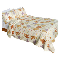 Blancho Bedding - Ordinary Romantic 100% Cotton 3PC Patchwork Quilt Set  Full/Queen Size - The [Ordinary Romantic] Quilt Set (Full/Queen Size) includes a quilt and two quilted shams. Shell and fill are 100% cotton. For convenience, all bedding components are machine washable on cold in the gentle cycle and can be dried on low heat and will last you years. Intricate vermicelli quilting provides a rich surface texture. This vermicelli-quilted quilt set will refresh your bedroom decor instantly, create a cozy and inviting atmosphere and is sure to transform the look of your bedroom or guest room. Dimensions: Full/Queen quilt: 90 inches x 98 inches; Standard sham: 20 inches x 26 inches.