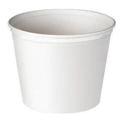 SOLO CUP - Unwaxed Double Wrapped Food Buckets 53 Oz White 6/50 - CAT: Foodservice food containers and lids buckets