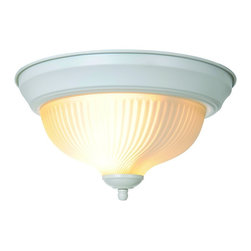 Premier - Swirl 10.9 x 6 inch Ceiling Fixture - White - AF Lighting 671356 11-3/16in. D by 6-1/2in. H Decorative Ceiling Fixture, White Finish.