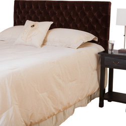 Great Deal Furniture - Ludington Queen/Full Headboard, Chocolate Brown - The Ludington headboard is a great piece to add elegance to your bedroom. You can spruce up the look of any queen or full sized metal frame bed with this headboard.