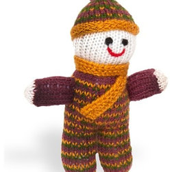 Sitara Collections - Hand-Knitted Small Doll Pappu - The Perfect First Snuggly for Little Hands. this Handmade Doll, Whose Bright Colors are Courtesy of Natural Dyes, is individually Crafted From Wool acrylic Thread and Comes with a Multihued Outfit and Matching Stocking Cap. amazingly soft Butter Fabric soft, Squishy Fill Machine washable Set includes: ome (1) Plush Joker Stuffed animal Materials: Dyed acrylic Wool, Polyester Fiber Fill Stuffing, Thread Embroidery Color: Multicolored Dimensioms: 8.25 inches High X 6.00 inches Wide X 2.00 inches Deep Weight: 0.65 Pounds.