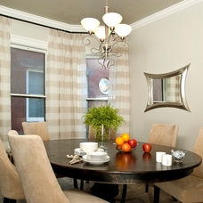 Transitional Dining Room by Suzan J Designs - Decorating Den Interiors