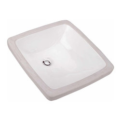 Renovators Supply - Sink Basins White China Providence Undercounter Sink Basin | 10795 - Sink Under Counter Mount: Made of Grade A vitreous China these sinks endure daily wear and tear. Our protective RENO-GLOSS finish resists common household stains and makes it an EASY CLEAN wipe-off surface. Ergonomic and elegant easy reach design reduces daily strain placed on your body. SPACE-SAVING design maximizes limited bathroom space. Easy, UNDER counter installation let's you select from many faucet styles and countertop designs, sold separately. Measures 18 1/4 inch W x 18 1/8 inch projection