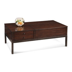 Bassett Mirror - Storage Cocktail Table - Two drawers. 48 in. W x 28 in. D x 18 in. H