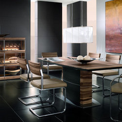 """Cando Hartmann - Nature provides us with many valuable raw materials which are uniquely graceful and expressive. This is also true of the walnut, which stands out from the bulk of """"normal woods"""" by way of its unmistakable markings and its clearly structured grain. It is these natural materials and the way the units are formed, in combination with their typically straightforward design, that come together in a wonderful synthesis in cando. This furniture concept is underlined by individual carcase and front units in a"""