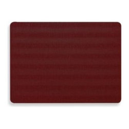 Dasco - Ramie Placemat in Red - This luxurious placemat coordinates with a variety of decors. 100% vinyl with a high-impact, absorbent foam back.