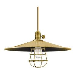 Hudson Valley Lighting - Hudson Valley Lighting 9001-AGB-ML1-WG Heirloom Aged Brass Pendant - Hudson Valley Lighting 9001-AGB-ML1-WG Heirloom Aged Brass Pendant