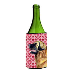 Caroline's Treasures - Leonberger Hearts Love and Valentine's Day Portrait Wine Bottle Koozie Hugger - Leonberger Hearts Love and Valentine's Day Portrait Wine Bottle Koozie Hugger Fits 750 ml. wine or other beverage bottles. Fits 24 oz. cans or pint bottles. Great collapsible koozie for large cans of beer, Energy Drinks or large Iced Tea beverages. Great to keep track of your beverage and add a bit of flair to a gathering. Wash the hugger in your washing machine. Design will not come off.