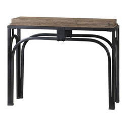 Uttermost - Uttermost 24314 Reidar Satin Black Iron Console Table - Uttermost 24314 Reidar Satin Black Iron Console Table