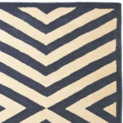 Serena & Lily - Indigo Charing Cross Rug - Taking a bit of creative liberty, we updated a traditional chevron print to give the lines of this plush wool rug a modern rhythm and directionality. A great way to introduce pattern without overwhelming the room.